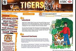 A website was created to educate schoolchildren about tigers