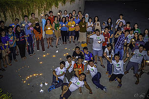 UNMC Nature Club students raised over RM1,000 during Earth Hour 2013.