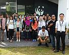 INTI lecturers and students at the site visit of the WWF-Malaysia office in PJ.