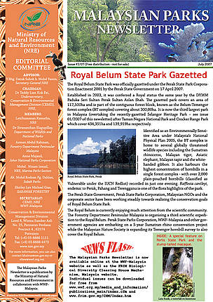 Malaysian Parks Newsletter Issue 02/07 (July 2007)