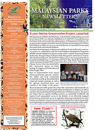 Malaysian Parks Newsletter Issue 04/07 (Dec 2007)