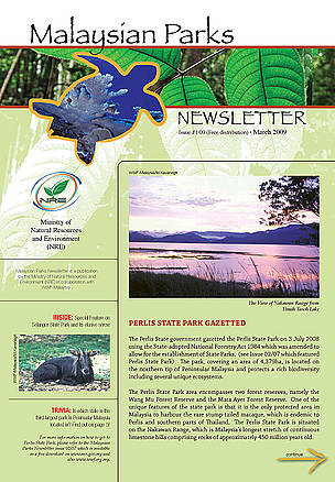 Malaysian Parks Newsletter Issue 01/09 (March 2009)