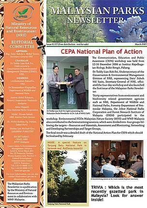 Malaysian Parks Newsletter Issue 01/07 (March 2007)
