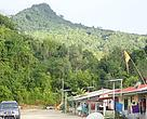 A view of Gunung Lesong National Park from Kampung Engkaranji. The village got its name from a tree called, Karanji, which are commonly found in the area